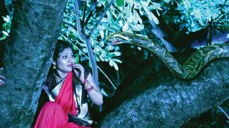 A scene from Puttagowri Maduve.