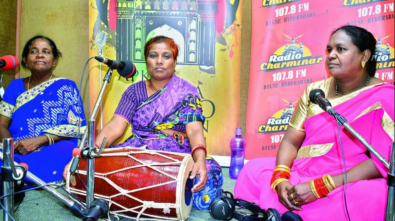 "Our songs have been inherited by us from our teachers and family members,"" Ms Begum says."