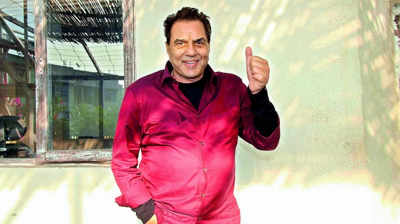 Actor Dharmendra's daughter Esha has just become a mother, and he couldn't be happier.
