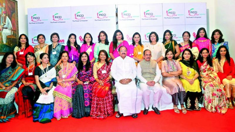 The ladies of the Ficci Ladies Organisation had quite an enriching Saturday as they were joined by Vice-President M. Venkaiah Naidu