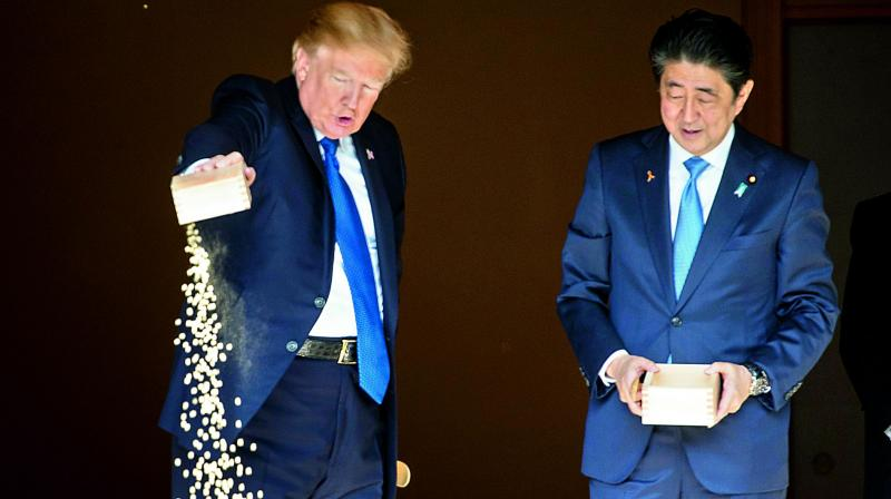 US President Donald Trump and Japanese PM Shinzo Abe (Photo: AFP)