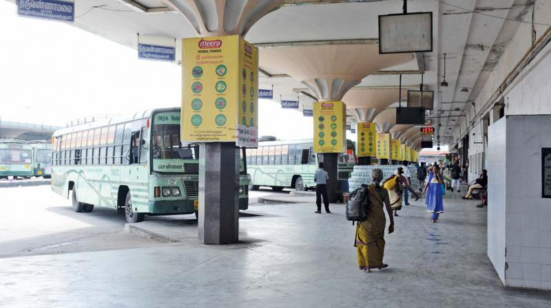 MGR bus stand on Monday. 	(DC)