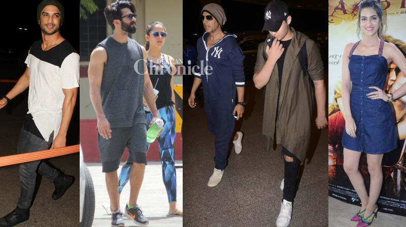 Shutterbugs spotted Bollywood celebrities at various locations in Mumbai on Wednesday. (Photo: Viral Bhayani)