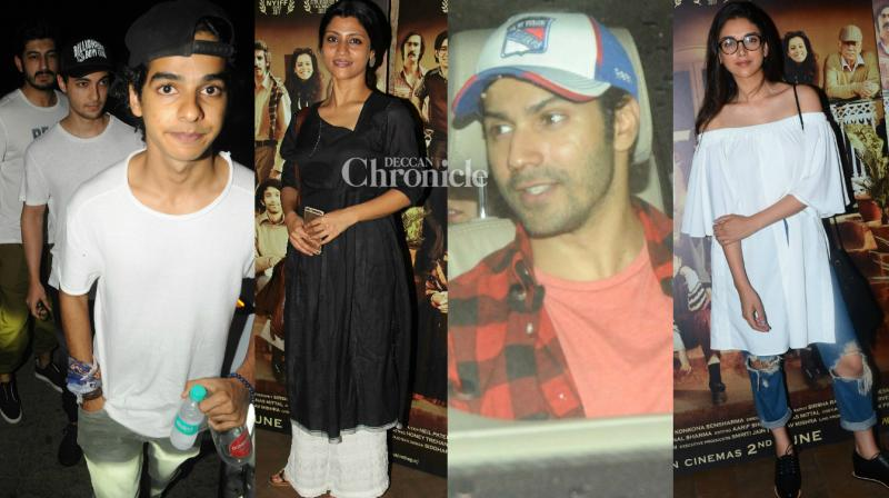 Bollywood stars were snapped arriving for the screenings of the films 'Baywatch' and Konkona Sen Sharma's directorial debut 'A Death in the Gunj' held in Mumbai on Monday. (Photo: Viral Bhayani)