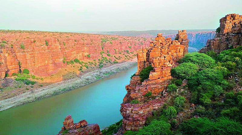 A view of the Gorge from Gandikota Fort