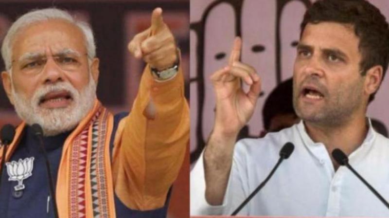 Prime Minister Narendra Modi and Rahul Gandhi.