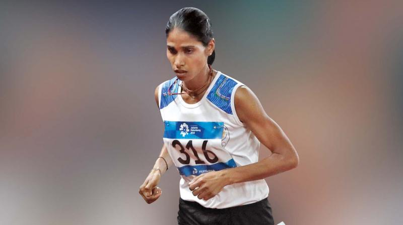 Sudha Singh won the silver in the 3000m steeplechase event on Monday (Photo: AP)