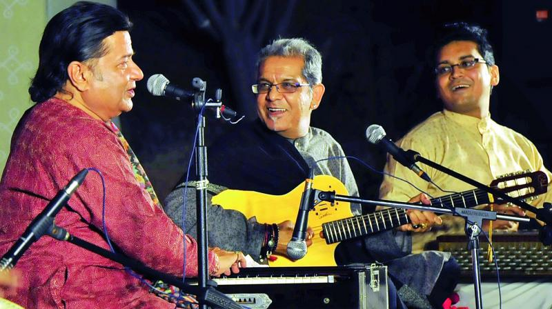 Anup Jalota during a performance