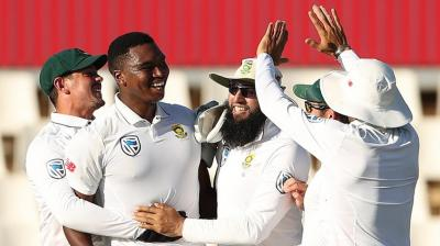 Debutant pacer Lungi Ngidi has scalped four wickets as South Africa move closer to series win. (Photo: BCCI)