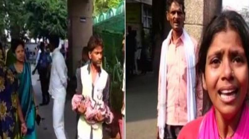 The family of the infants alleged that they died due to hospital's negligence. (Photo: ANI)