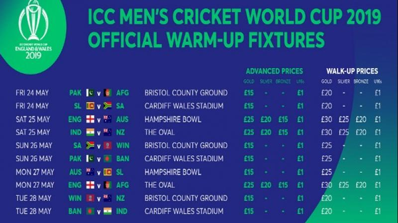 Cricket world cup matches at the oval