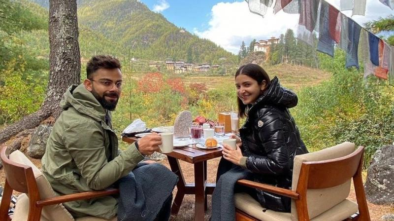India skipper Virat Kohli, who is celebrating his 31st birthday, is feeling blessed to be visiting divines places with his soulmate, wife Anushka Sharma. (Photo:Twitter)