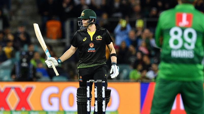 Australia batsman Steve Smith wants to improve his batting record in the T20I as he feels it is not 'crash hot'. (Photo:AFP)