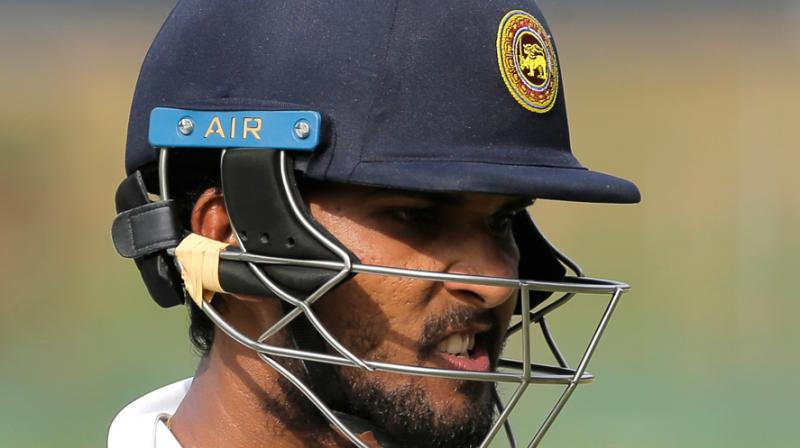 Dinesh Chandimal, who told reporters he had received a special blessing from a meyni, or sorcerer, ahead of the two-match Test series against Pakistan in the United Arab Emirates, drew mockery on social media. (Photo: AP)