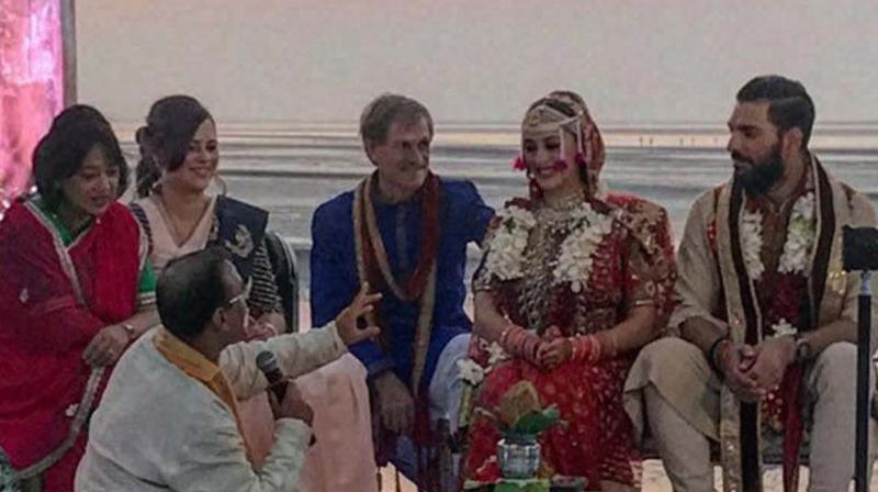 Yuvraj Singh got married Hazel Keech as per the Hindu rituals in Goa. (Photo: PTI)