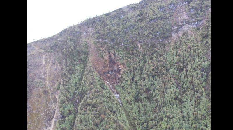 The mountainous and forested Mechuka region, where the An-32 aircraft had crashed, is believed to be one of the world's most inhospitable for air travel. (Photo: ANI | Twitter)