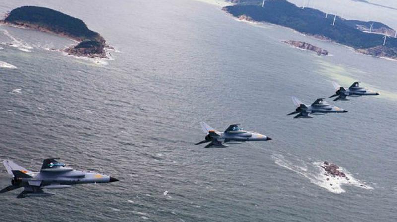 China Air Force Drills in South China Sea