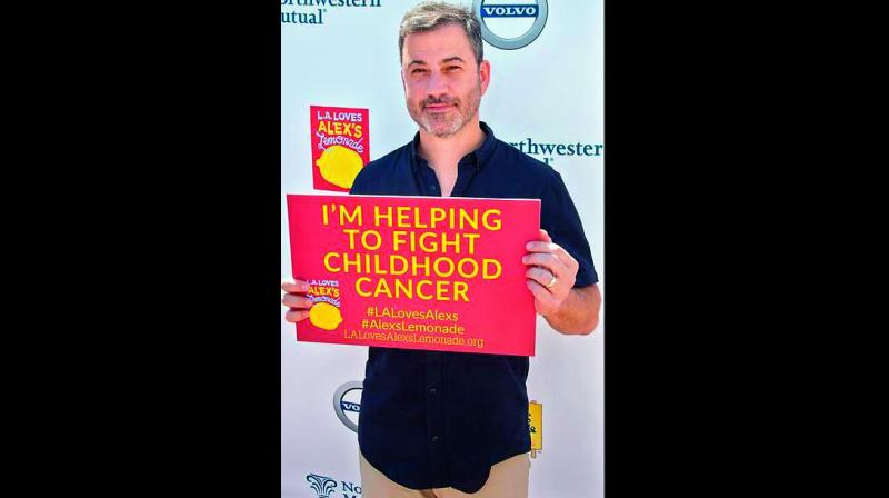 Celebrities including Jimmy Kimmel, Nolan Gould, Timothy Olyphant and Laura Dern contributed to the 10th Annual L.A. Loves Alex's Lemonade event as a part of the Childhood Cancer Awareness Month.