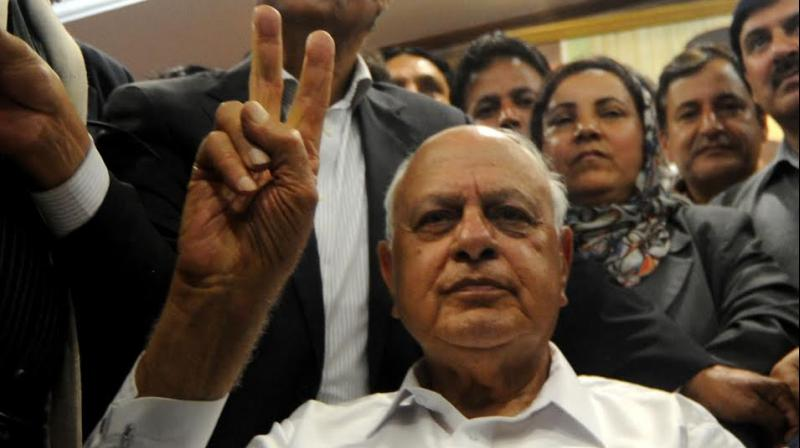 National Conference chief Farooq Abdullah (Photo: H U Naqash)