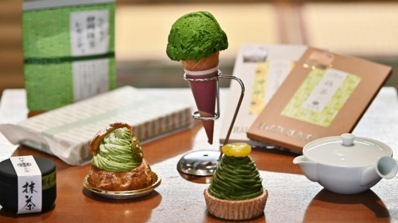 From matcha ice cream to cake and chocolate, producers of traditional Japanese green tea are capitalising on growing global interest in its flavour. (Photo: AFP)