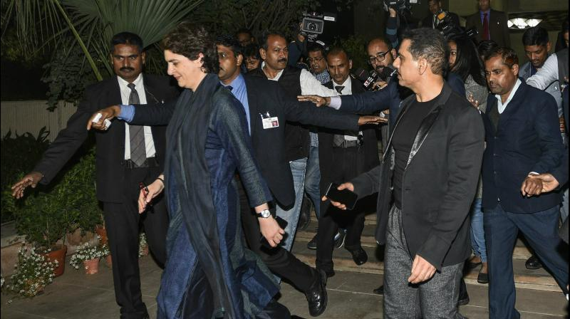 'There is a very vindictive and vicious political atmosphere... But I know, it's her duty to serve the people and now we hand her to the people of India. Please keep her safe,' Robert Vadra also wrote. (Photo: PTI)