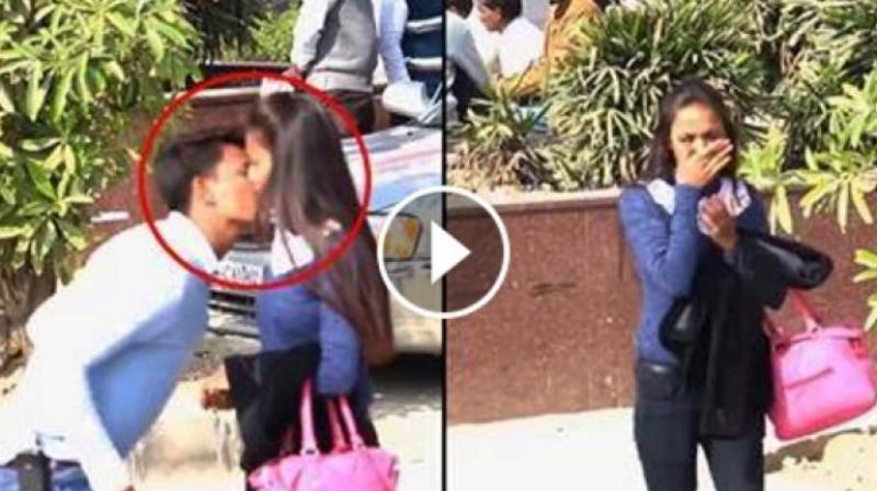 Chennai girl kiss