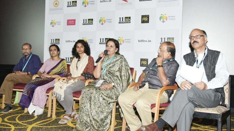 Women directors during an interactive session.