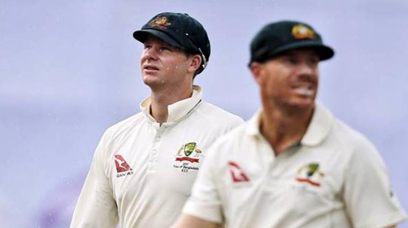 The reintegration of Warner and co-conspirator Steve Smith has already begun with the pair meeting the one-day team after their bans expired late last month. (Photo: AP)