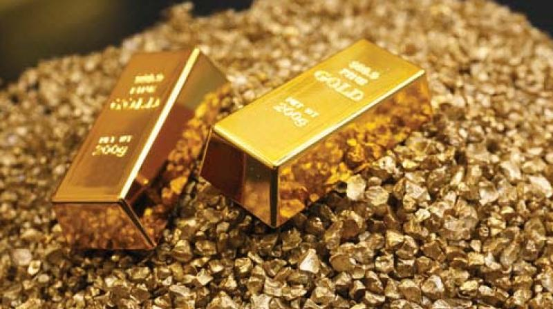Continuing its fall for the second straight day, gold prices drifted down by another Rs 150 to Rs 31,800 per 10 gram at the bullion market on Tuesday largely in tandem with a subdued trend overseas amid muted demand from local jewellers.