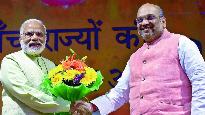 BJP president Amit Shah and Prime Minister Narendra Modi