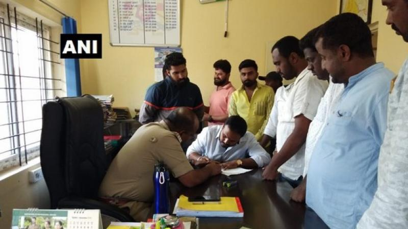 Wednesday's complaint was filed at Devadurga police station under Section 506 of IPC (Punishment for criminal intimidation). (Photo: ANI)