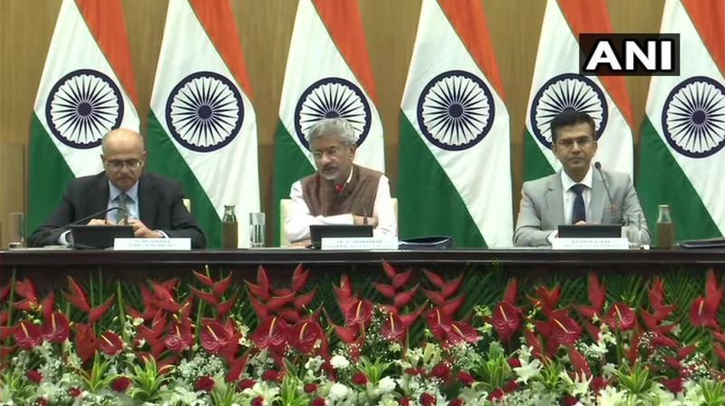 MEA S Jaishankar addressed the media. (Photo: ANI)