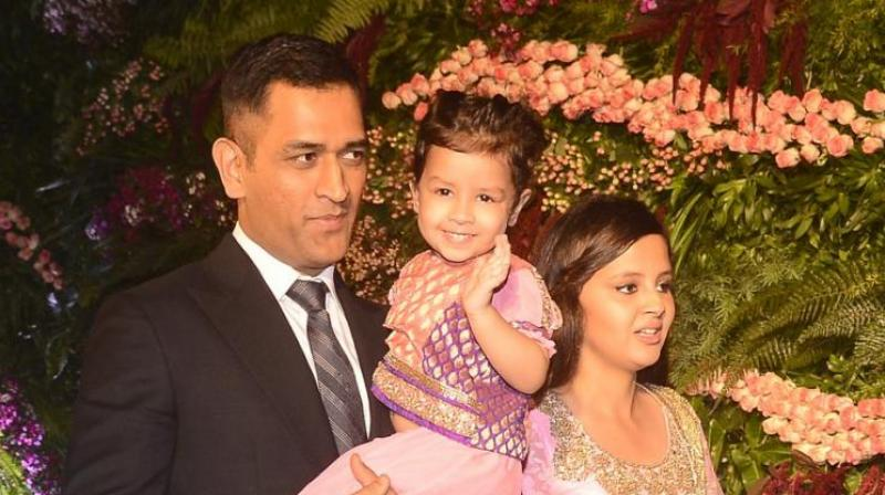 Watch MS Dhoni have fun with family
