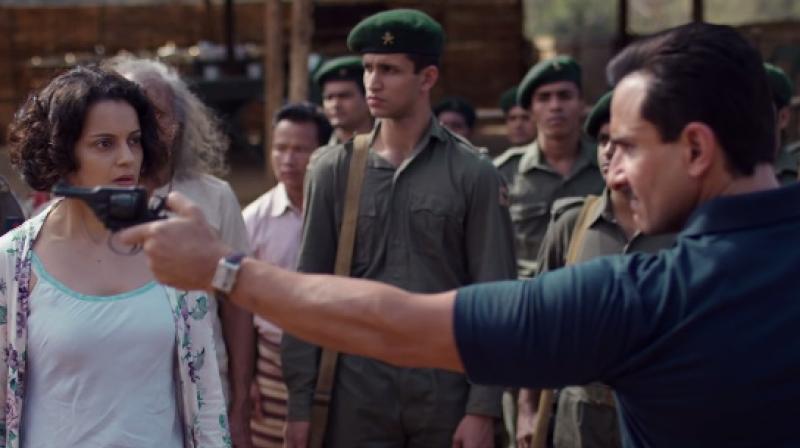 Saif Ali Khan and Kangana Ranaut in 'Rangoon.'