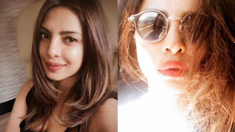 (Left) The picture that led to fans calling Priyanka Chopra out for 'nose job'; (right) the picture that led to trolls targetting her for her lips.