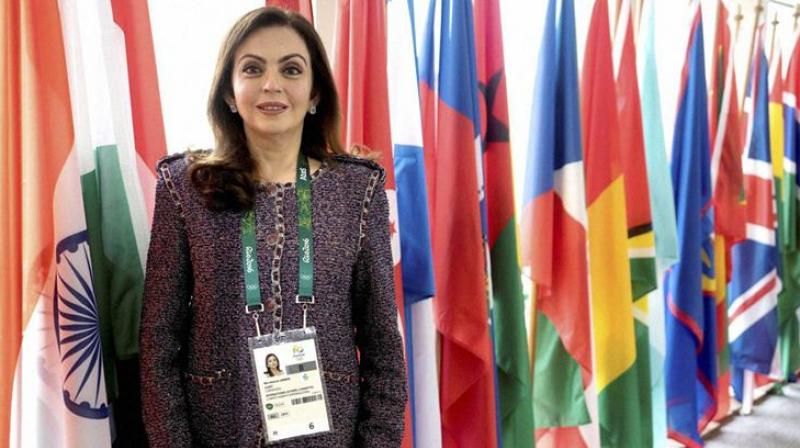 Nita Ambani is one of the 16 members of the Olympic Channel Commission headed by United States Olympic Committee Chairman Lawrence Francis Probst. (Photo: PTI)