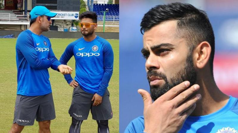 It is likely all that Rishab Pant, MS Dhoni along with captain Virat Kohli could be included in the ODI squad for the Windies series. (Photo: BCCI / AP)