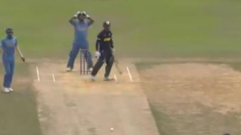 In one of the most bizarre matches in cricket history, Malaysia chased down a target of 10 runs in just as many as balls during an ICC World T20 Qualifier game against Myanmar in Kuala Lumpur, winning by eight wickets. (Photo: Screengrab / ICC)