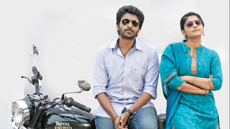 Vikram Prabhu and Manjima Mohan in Sathriyan.