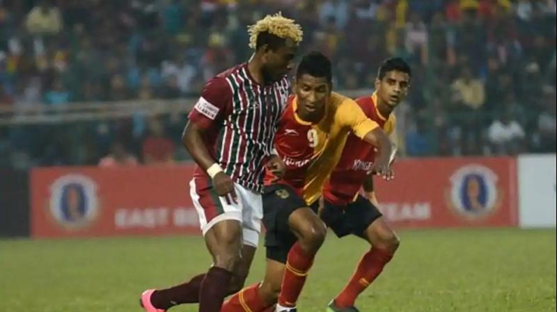 With this win, East Bengal with 25 points from 13 games moved up to fourth position. (Photo: AFP)
