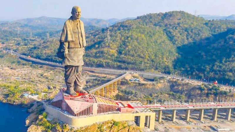 The gigantic Statue of Unity, the world's tallest, was built to honour Sardar Patel, India's first Home Minister.