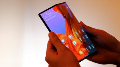 The Huawei Mate X is the company's first phone with a foldable display. Unlike The Galaxy Fold, the Huawei Mate X has a single screen and the phone folds in half to go from 'tablet to phone'.