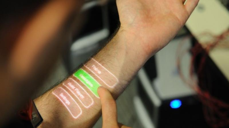 The new sensors contain a spiralling microscopic tube or microfluidic, that wicks sweat from the skin.