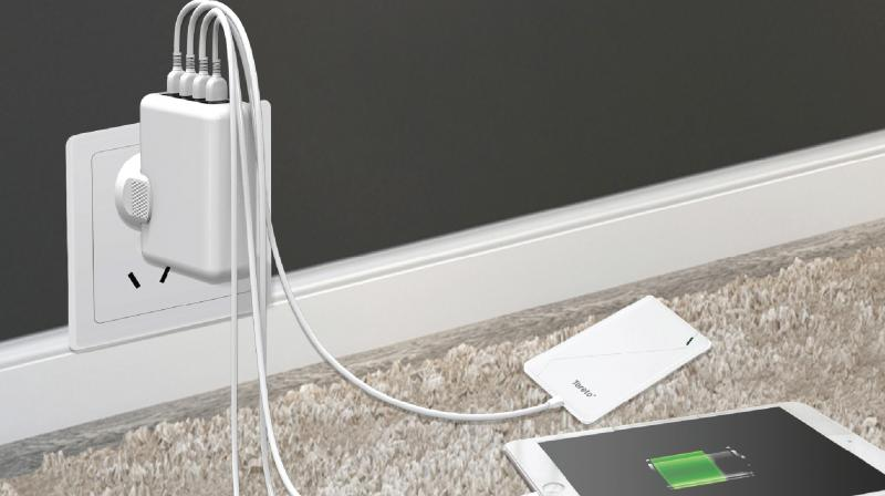 """Toreto has introduced its latest and unique """"Unicharge"""" Universal Travel Charger with 4 USB Ports."""