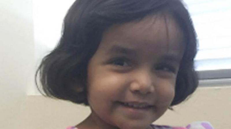 Police in Richardson are yet to find a clue as to what happened to Sherin Mathews.(Representational Image| Photo:AFP)