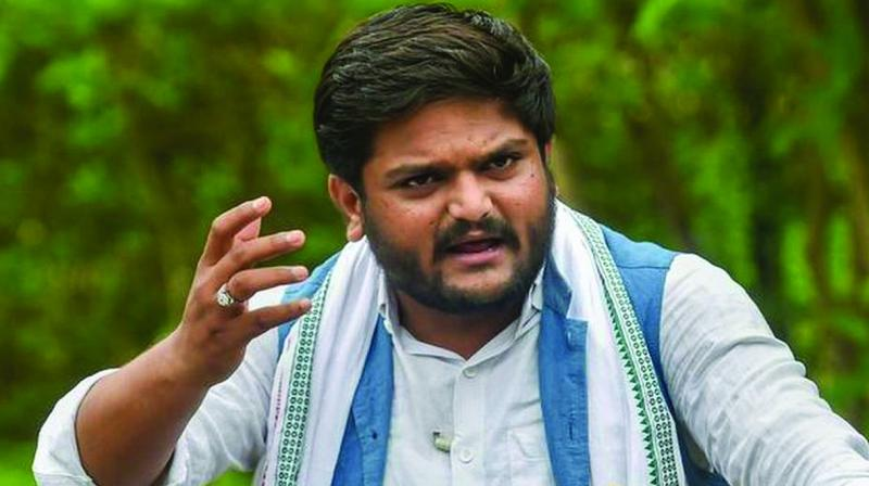 Hardik Patel had to later travel by road to Lunawada, around 100km from Ahmedabad, to address an election rally. (Photo: File)