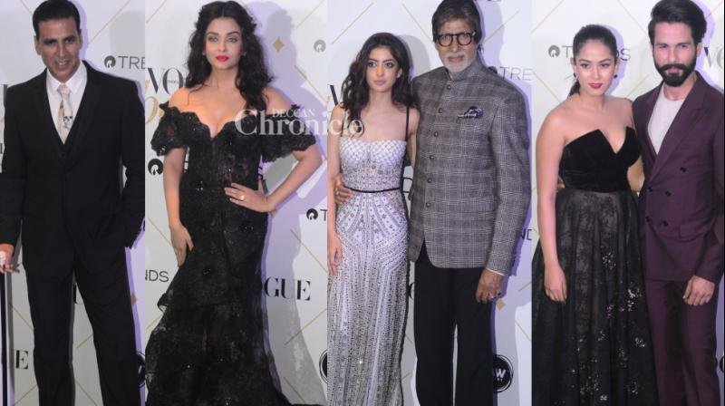 Bollywood stars came out in style for the Vogue Beauty Awards held in Mumbai on Wednesday. (Photo: Viral Bhayani)