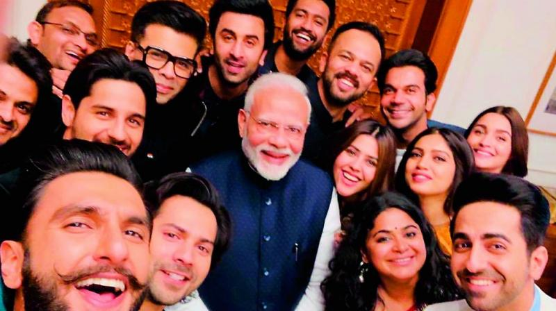Many Bollywood celebrities, who recently met PM Narendra Modi, posted many selfie with him.