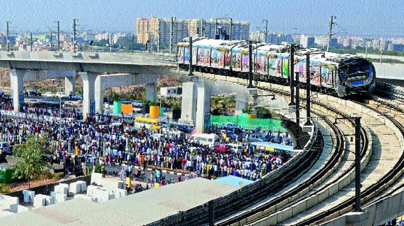 PM launches first phase of Hyderabad Metro