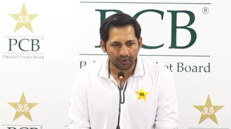 Sarfaraz Ahmed has been replaced as Test captain by Azhar Ali while Babar Azam will take over in T20s. (Photo: Twitter)